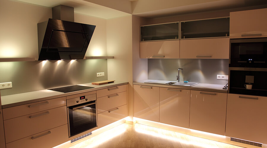 Kitchen With LED Lighting
